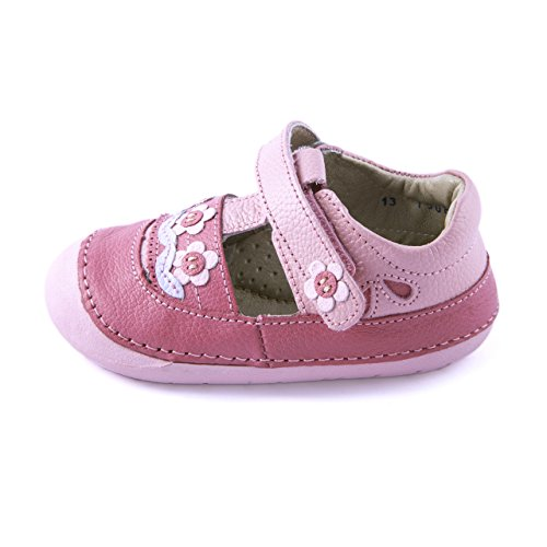 3. Wobbly Waddlers | Natura - BUD |Baby & Toddler Girl Leather Shoes Arch Support