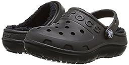 crocs Hilo Lined Clog (Toddler/Little Kid), Black/Black, 1 M US Little Kid
