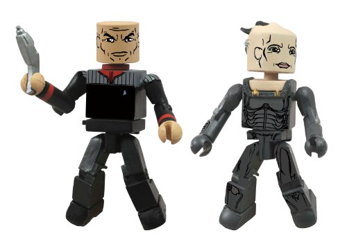 Diamond Select Toys Star Trek Legacy Minimates Series 1 First Contact Captain Picard and Borg Queen Action Figure - 1