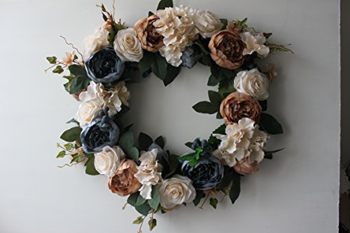 Vintage Rose Wreath Home Wall Decorations