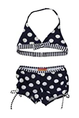 Kate Mack Girl's 2-6X Monte Carlo 2pc Boy Leg Swimsuit in Navy