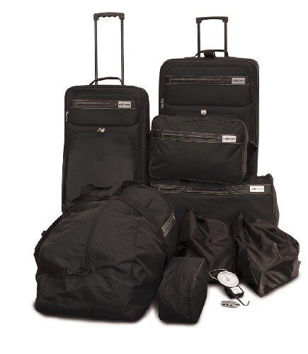 Hochwertige Reise Set - 10 tlg. in Schwarz oder