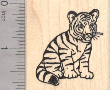 Tiger Cub Rubber Stamp, Big Cat