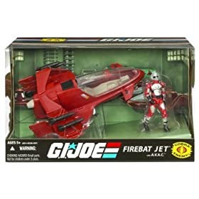 G.I. JOE 25th Anniversary Vehicle FireBat Jet with A.V.A.C.