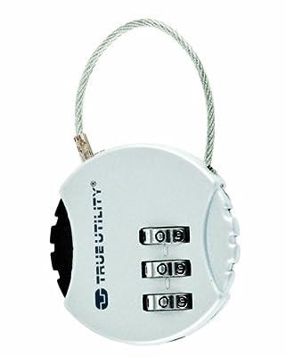 True Utility TU09 Combilock Travel 3 Digit Combination Lock by True Utility