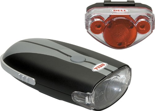 Bell Night Trail Bike Light Set (Black/Silver)