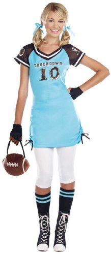 [Dreamgirl - Football Touchdown Cutie Teen Costume - X-Small (0-1)] (Touchdown Adult Costumes)