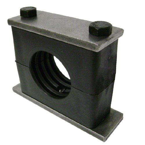"Behringer Heavy Series Pipe Clamp, Polypropylene With Plain Carbon Steel Hardware, Weld Mounting, 8"" Pipe Size"
