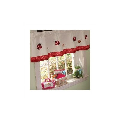 Lady Bug Yard Curtain Valance - 1