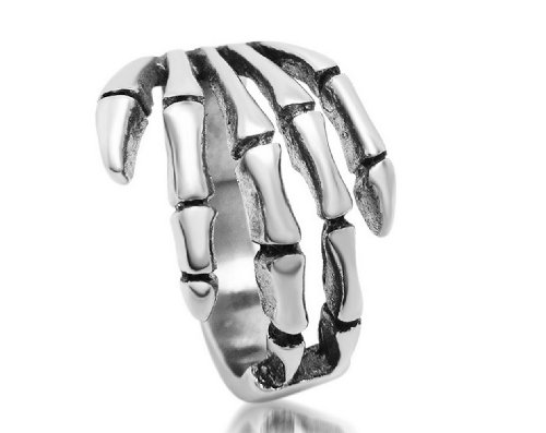 Stainless Steel Skeleton Fingers Design,Punk Style Cool Ring For Boy,Men,Fashion Men'S Jewelry-Rts023