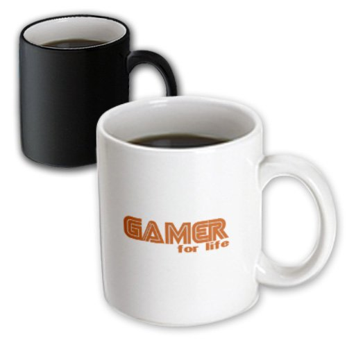 Mug_12473_3 Deniska Designs Wow - Gamer For Life - Mugs - 11Oz Magic Transforming Mug