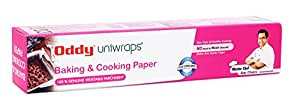 """Oddy Uniwraps Baking & Cooking Parchment Paper- PRA20 (10.25"""" Width X 20mtrs) (100% Food Grade)"""