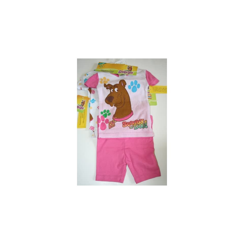 Scooby Doo Girls 4 Piece Pajama Set Size 2T