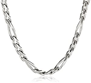 Men's Sterling Silver Italian 5.5mm Solid Figaro Link Chain Necklace, 20""