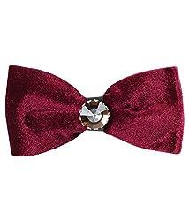 Classique Pre Tied Designer Maroon Velvet Wedding & Party Tuxedo Bow Tie