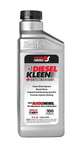Power Service 3025-6PK +Cetane Boost Diesel Kleen Fuel Additive - 32 oz., (Case of 6)