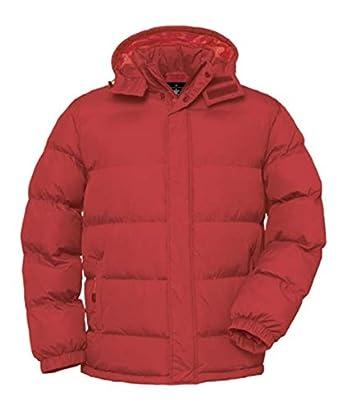 ShirtInStyle Herren Steppjacke in Daunenoptik Mantel Winterjacke Wasserdicht, Farbe Rot, Größe S