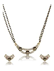 Estelle Gold And Silver Plated Necklace Set With Crystals (EMS13080030)