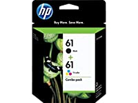 HP 61 Black & Tri-color Original Ink Cartridges combo pack(CR259FN) from HP