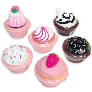 Cheapest Rhode Island Novelty Cupcake Lip Gloss 12 Piece Girls Birthday Party Favors from Rhode Island Novelty - Free Shipping Available