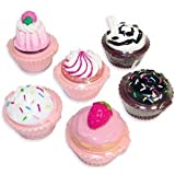 Cupcake Lip Gloss (12 pieces) Girls Birthday Party Favors - Assorted Styles and Flavors