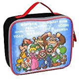Nintendo Super Mario Family Tree Insulated Lunch Tote - Black And Red