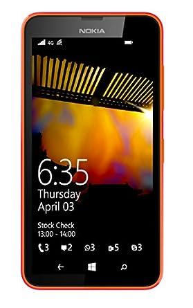 Nokia Lumia 635 4G UK SIM-Free Smartphone - Orange (Windows, 4.5-inch, 8 GB Internal Memory, 1 GB RAM)