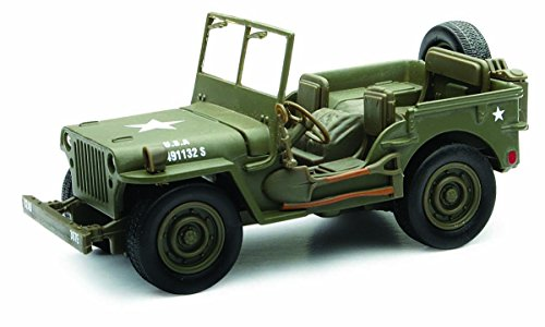 New Ray Jeep Willys 1:32 Scale Die Cast Model Car WW II Military US Army Vehicle - 1