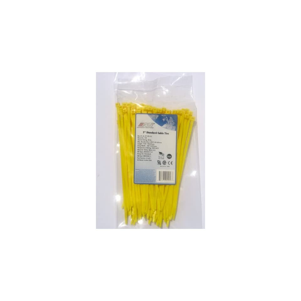 Absolute CT6100Y 6-Inch Cable Tie Yellow 100 Pieces