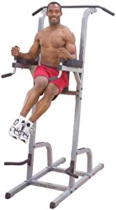 Body Solid Deluxe Vertical Knee Raise and Dip Station Power Tower GVKR82