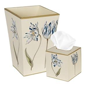 Trash can trash bin wastebasket tissue box for Bathroom wastebasket sets