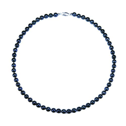 Pearlpro 7.0-7.5mm Black Japanese Saltwater Akoya Pearl High Luster Necklace 18