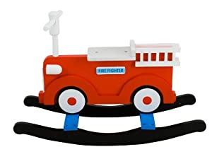 J.I.P. Wooden Rocking Motor Wood, Fire Engine (Discontinued by Manufacturer)