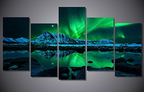 blue-green-modern-aurora-borealis-iceland-jokulsarlon-northern-light-canvas-prints-picture-painting-