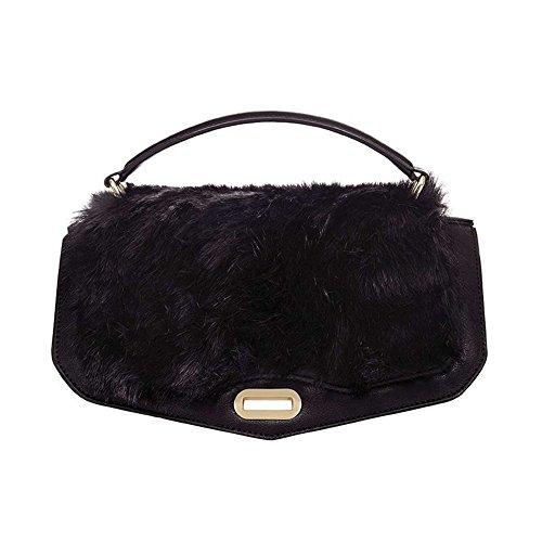 Numeroventidue MEDIUM TUR TOP FUR Borse Accessori Pvc Fur Black Fur Black TU