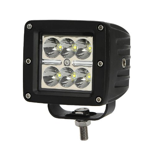 "18W 1260Lm 6X3W 3.5"" Cree Led Light Bar 24V 12V Truck Suv Van Camper Wagon Car Pickup Off-Road Spot Beam 10 Degree Driving Work Light Waterproof Ip67 Boat Military Fog Lamp"