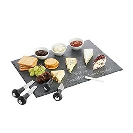 VonShef- Set de bandeja para queso y dips con cuchillos y platos (tamaño: 40x30cm,5)