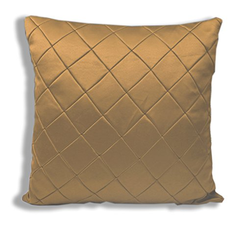 Threadmix Yellow Polyester Cushion Cover ( Without Filler, Pack of 5)