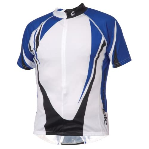Cannondale-LTD-Mens-Short-Sleeve-Cycling-Jersey-S-White-Blue-Black