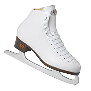 Riedell 10RS White Girls Figure Ice Skates - Kids Ice Skates Youth by Riedell