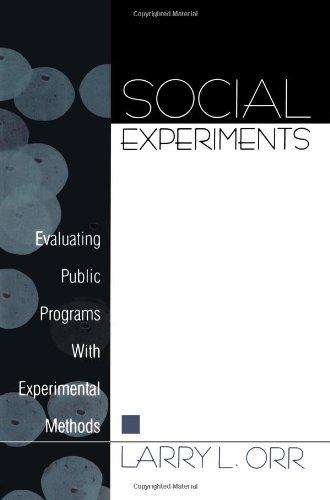 社会实验: 评价公共项目与实验方法