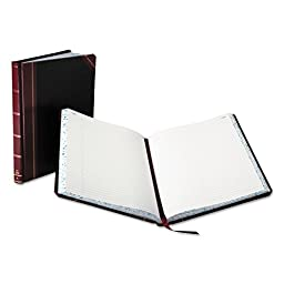 * Columnar Book, Record Rule, Black Cover, 150 Pages, 10 3/8 x 8 1/8 *