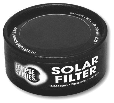 "Solar Filter 70Mm/2.75"" - Black Polymer - Binoculars, Telescopes And Cameras - Eclipse Viewing, Sunspots, Solar Flares"