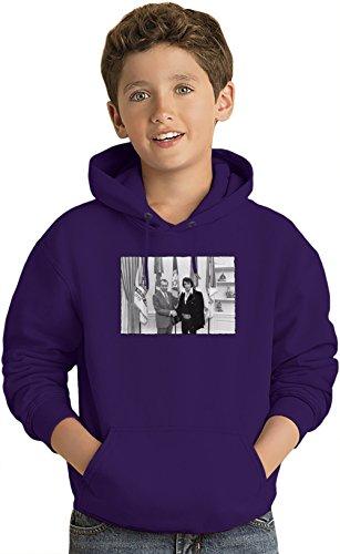 Elvis And Nixon Felpa leggera con Cappuccio per Bambini Lightweight Hoodie For Kids | 80% Cotton-20%Polyester| Fashion 9-11 yrs