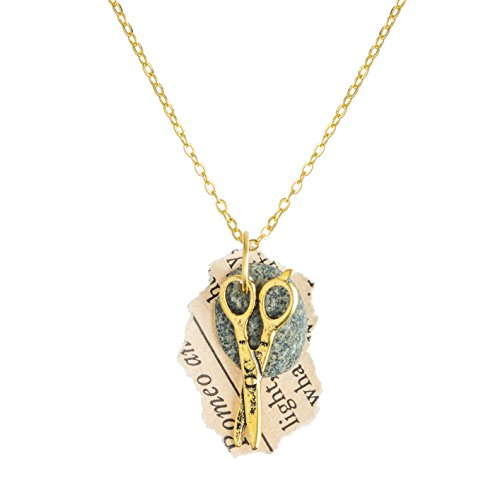 Rock Paper Scissors Necklace (gold)
