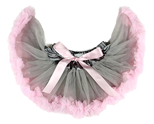 Colorful Dress Grey and Pink Newborn Baby Skirt Tutu Girl Clothing Nb-12m