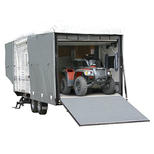 Classic Accessories OverDrive PolyPRO 3 Deluxe Toy Hauler Cover, Fits 32' - 36' Trailers - Max Weather Protection with 3-Ply Poly Fabric Roof RV Cover (72563) (Rv Propane Cover Single compare prices)