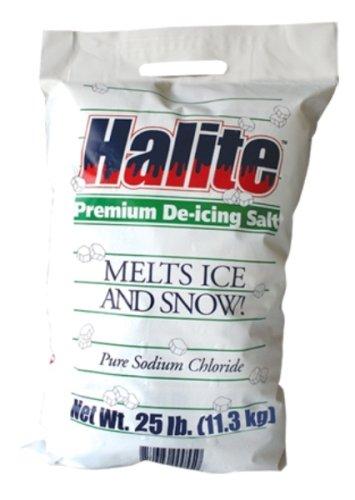 Halite RS25 Premium Ice Melting Rock Salt - 25 Pound Bag