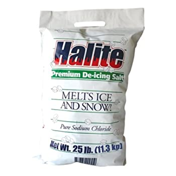 Halite RS25 Premium Ice Melting Rock Salt - 25 Pound Bag