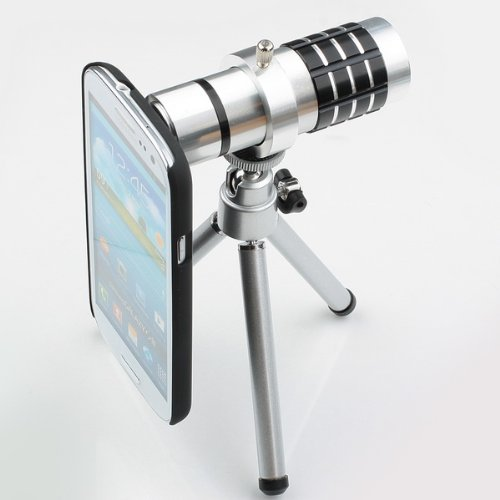 Aluminum 12X Optical Zoom Manual Focus Telephoto Lens For Samsung S3 I9300